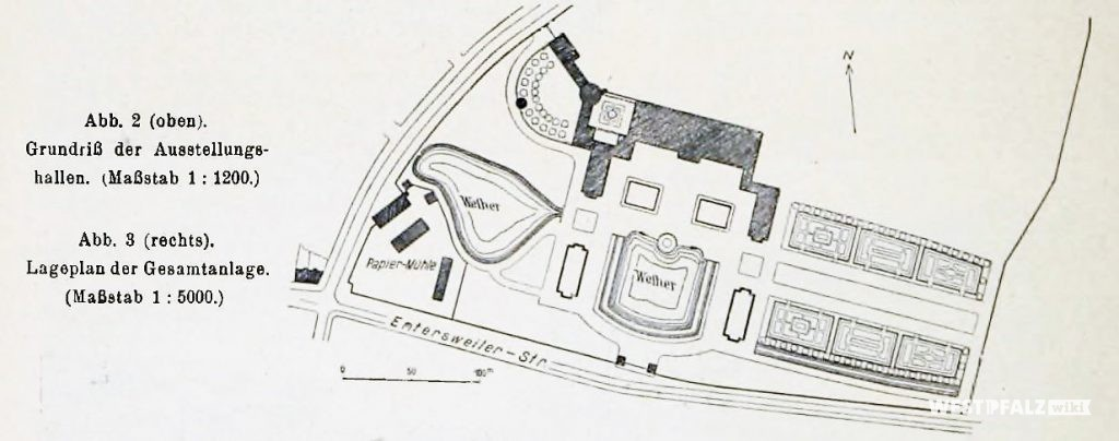 Lageplan des ehemaligen Ausstellungsgeländes