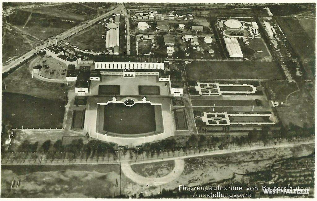 Ausstellungspark Luftaufnahme aus dem Jahr 1938