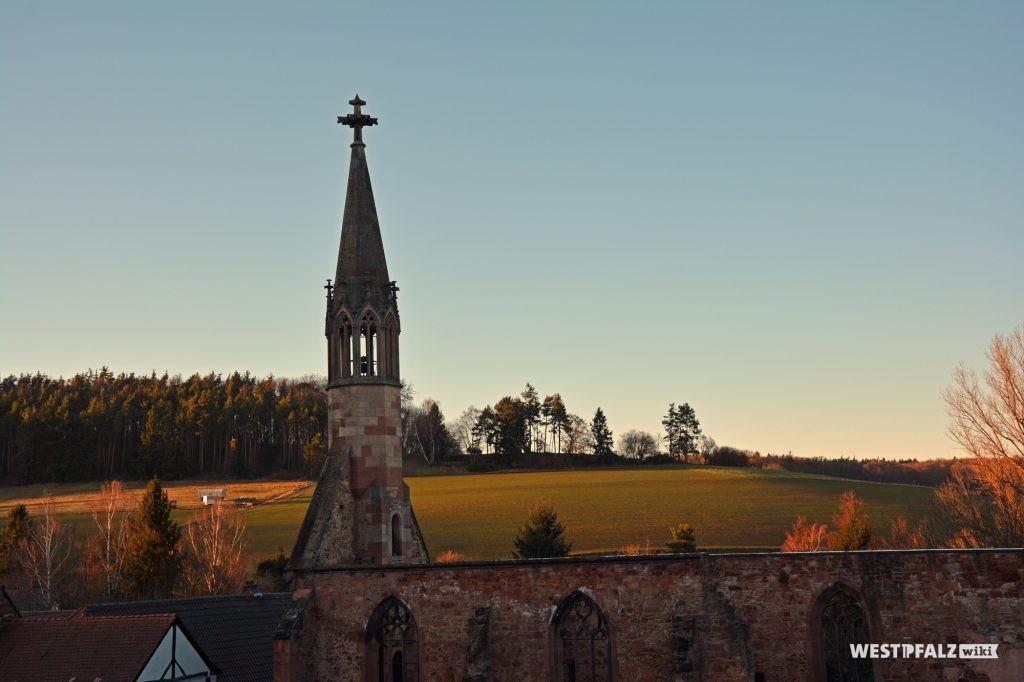 Sicht auf die Ruine des Kloster St. Maria in Rosenthal aus westlicher Richtung.