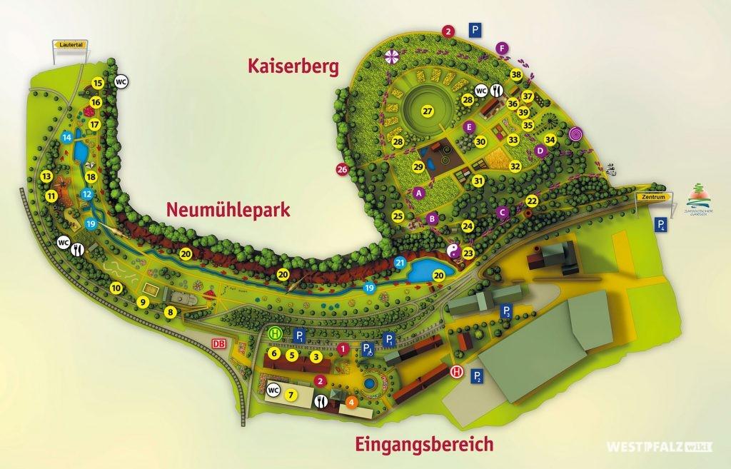 Geländeplan der Gartenschau Kaiserslautern