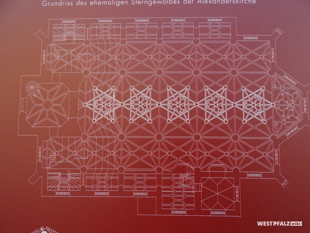 Grundrissplan der Alexanderskirche in Zweibrücken