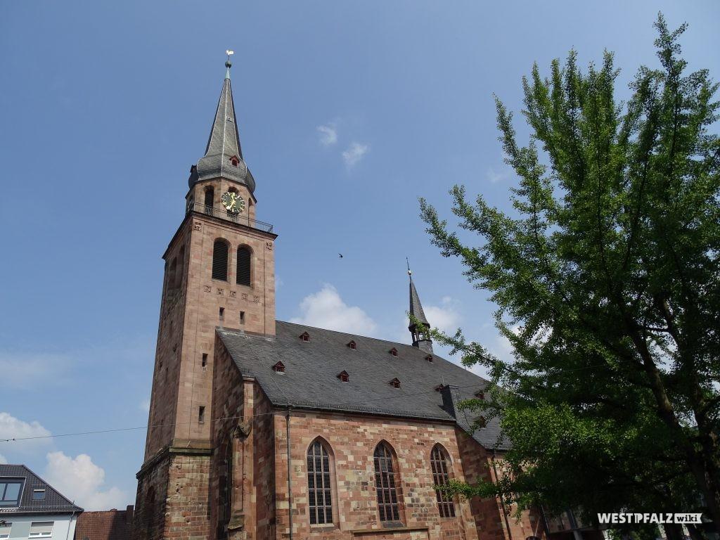 Süd-Ost-Ansicht der Alexanderskirche in Zweibrücken