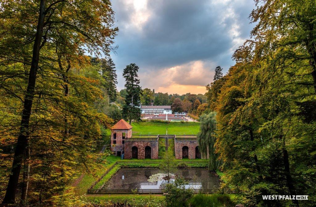 Parkanlage Fasanerie Zweibrücken am ehemaligen Lustschloss Tschifflik.