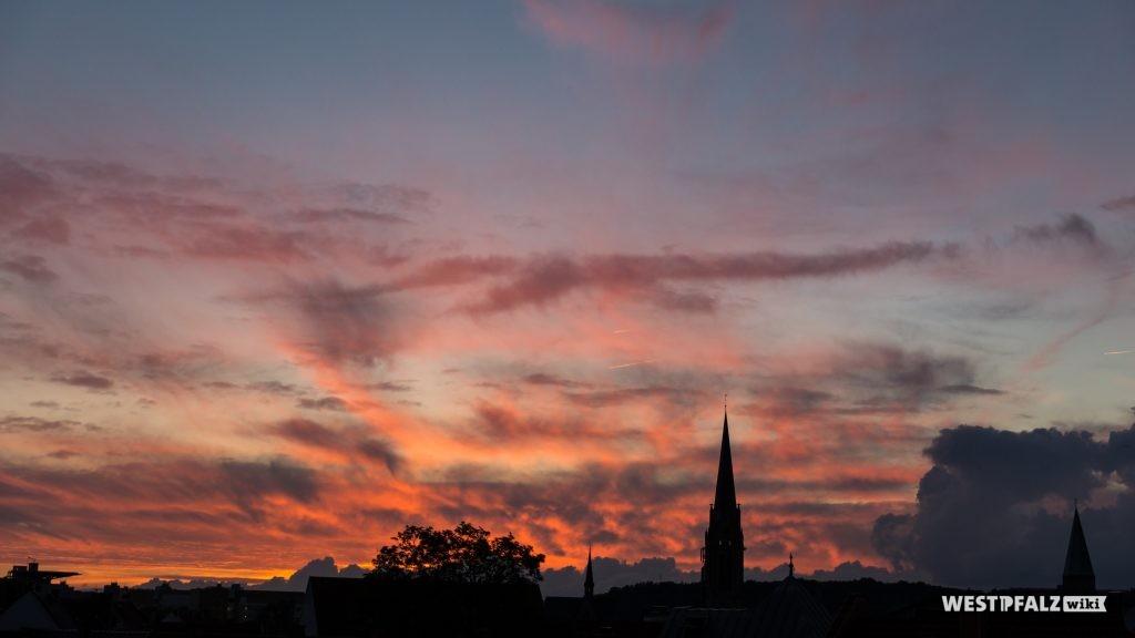 Marienkirche beim Sonnenuntergang
