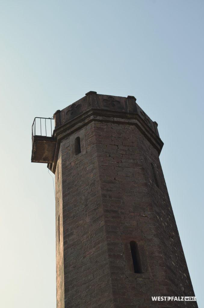 Blick auf den Balkon des Ludwigturmes