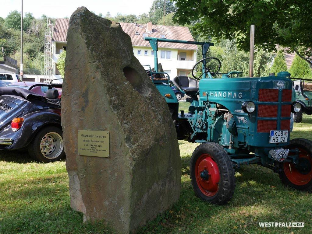 Sandstein im deutschen Sandsteinpark in Alsenz