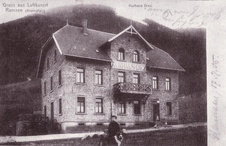 Foto des Kurhaus Dietz kurz nach seiner Erbauung.