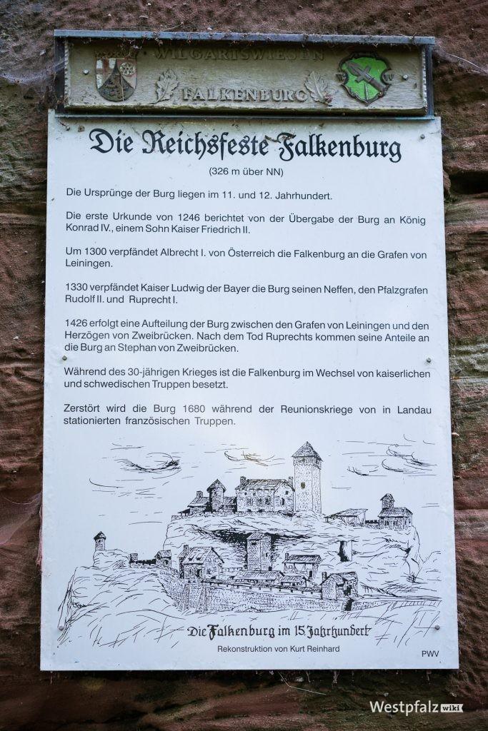 Informationstafel an der Falkenburg