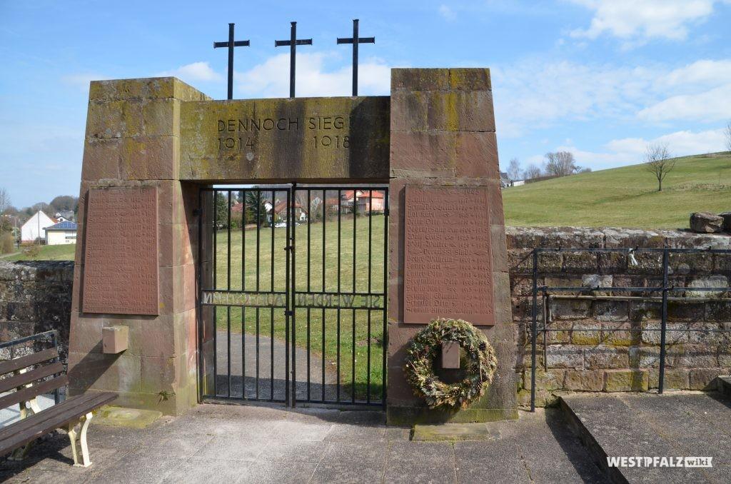 Die Innenseite des Kriegerdenkmals in Dietrichingen