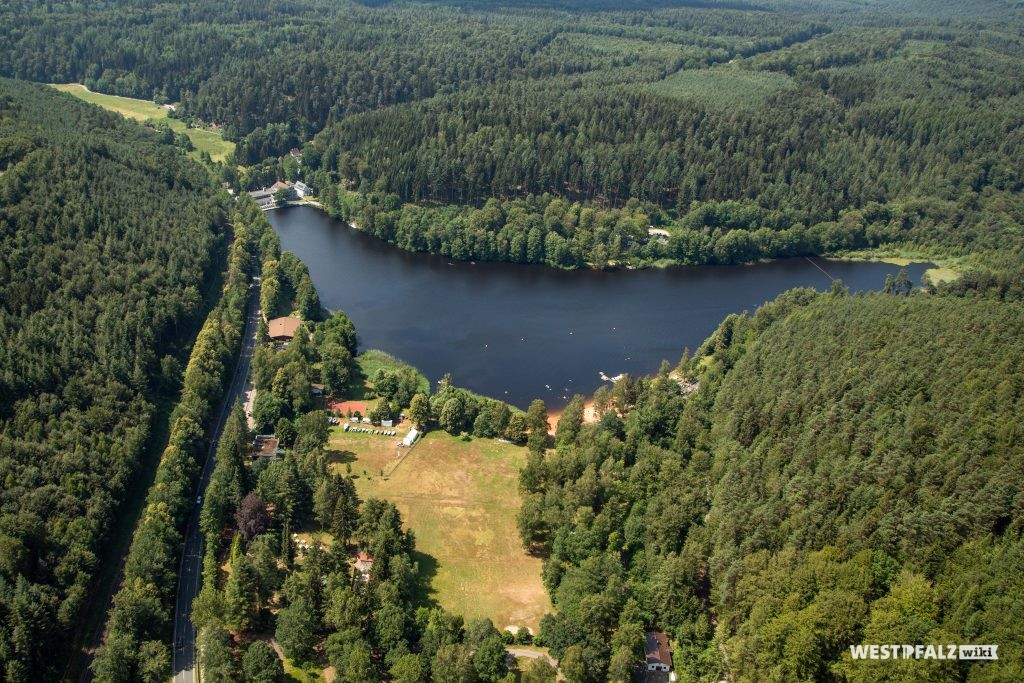 Luftaufnahme des Gelterswoogs aus dem Norden