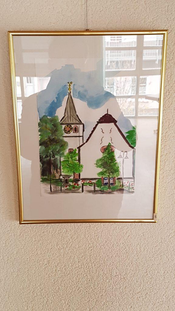 Gemälde der Protestantischen Kirche Niedermoschel