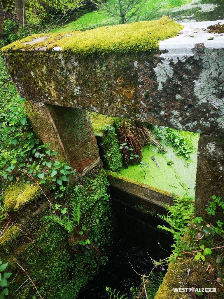 Absperrbauwerk mit offenem Durchlass bis auf die Dammsohle und Aufstauen durch Holzbohlen