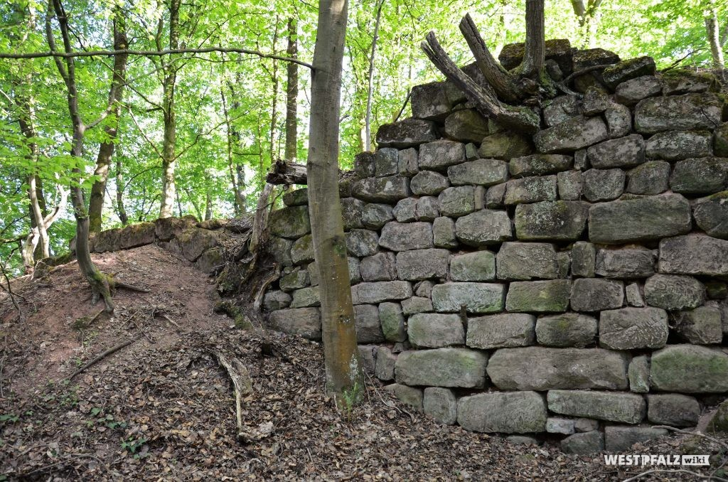 Mauerreste der Burgruine Wiesbach