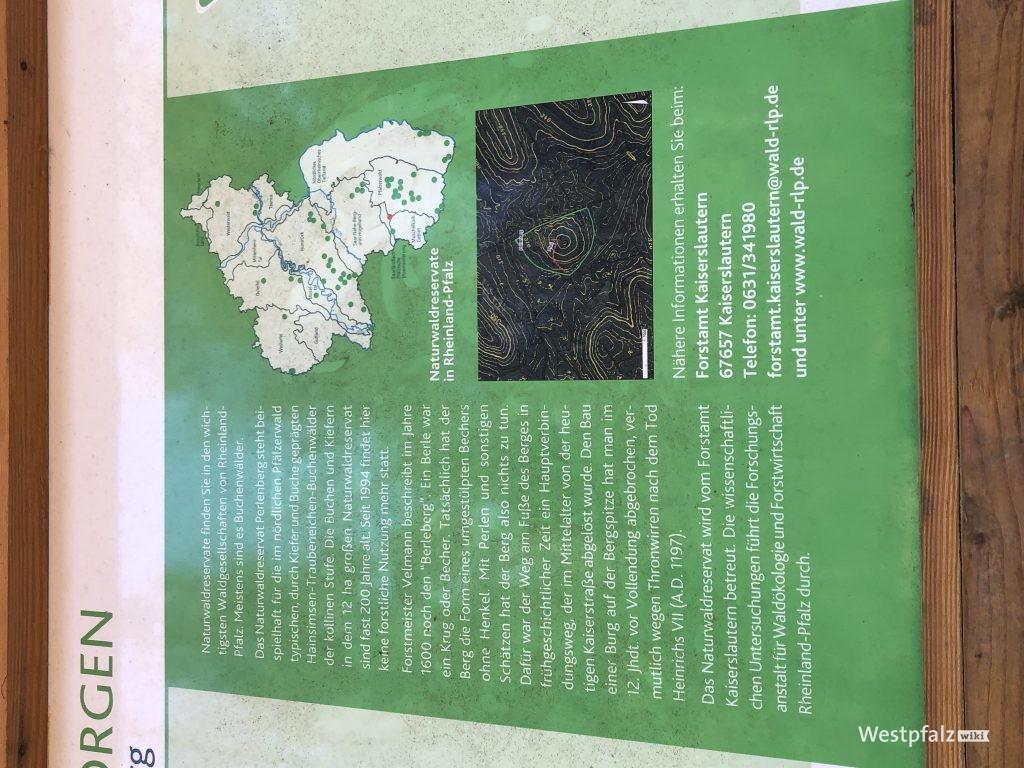 Informationstafel zum Naturwaldreservat Perlenberg