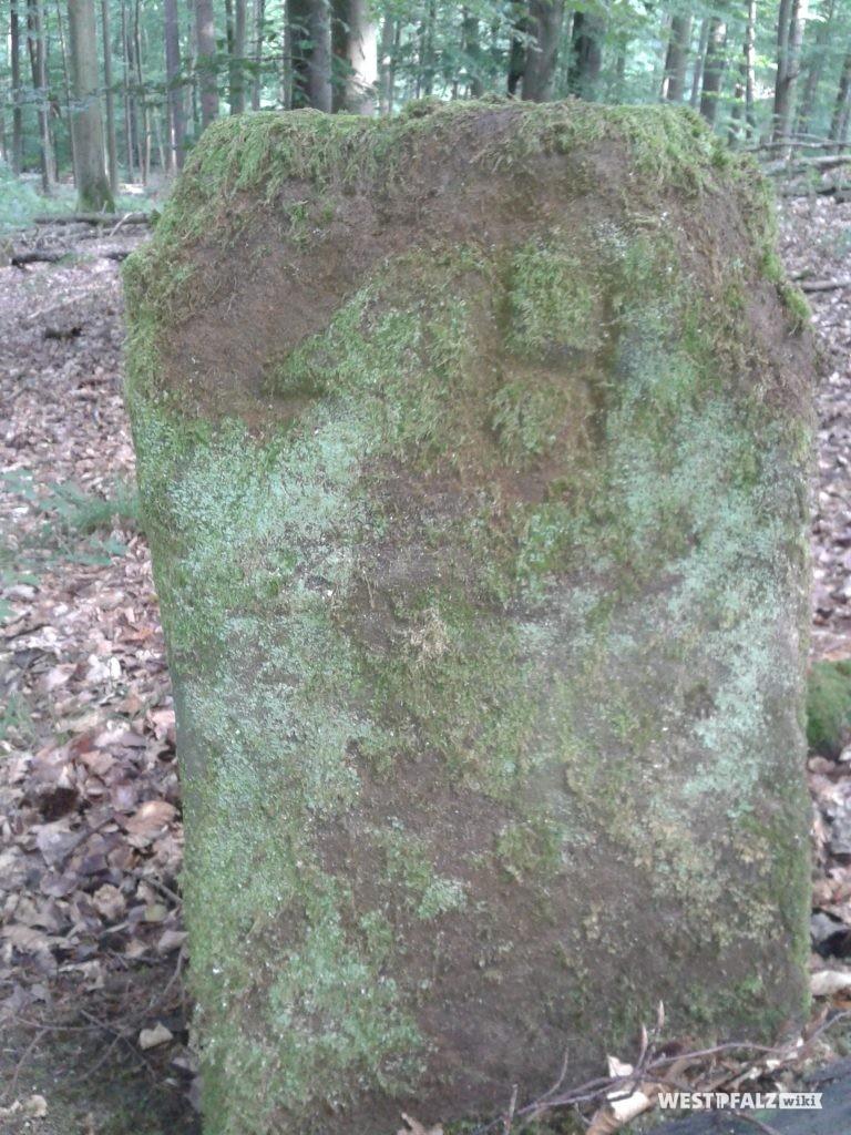"""LH  """"LH und 64"""" (Buchstaben und Nr. sicher nach 1816) Deutung unsicher, auf weiteren Steinen der Umgebung."""