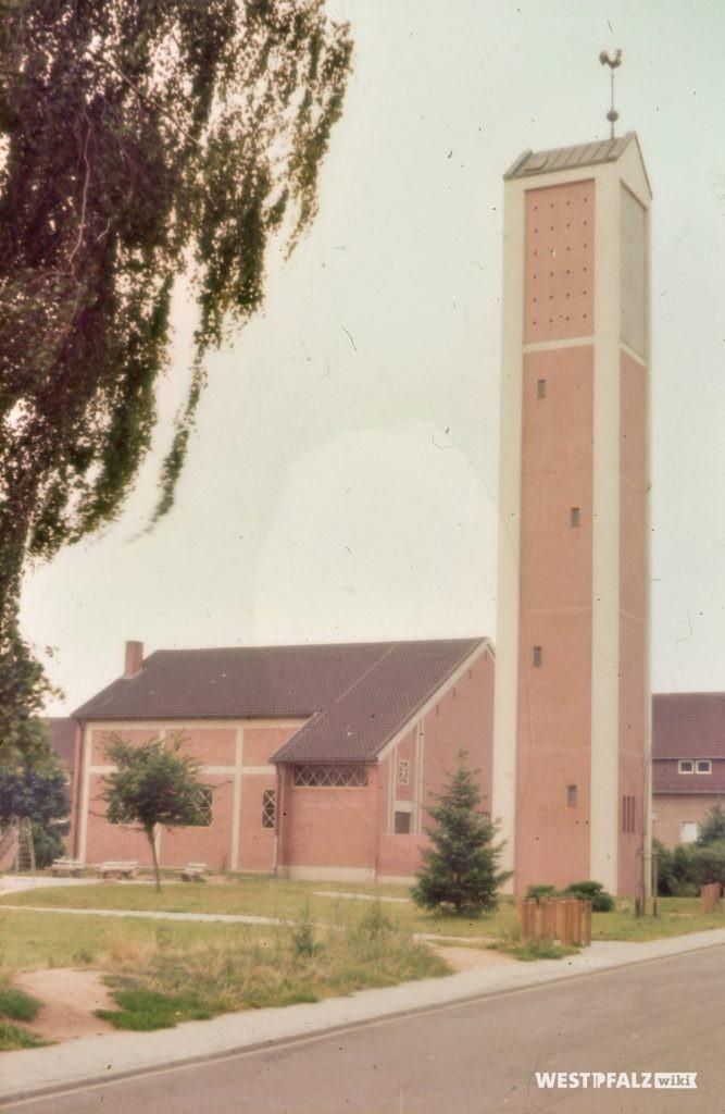 Die protestantische Kirche in Ramstein um das Jahr 1980