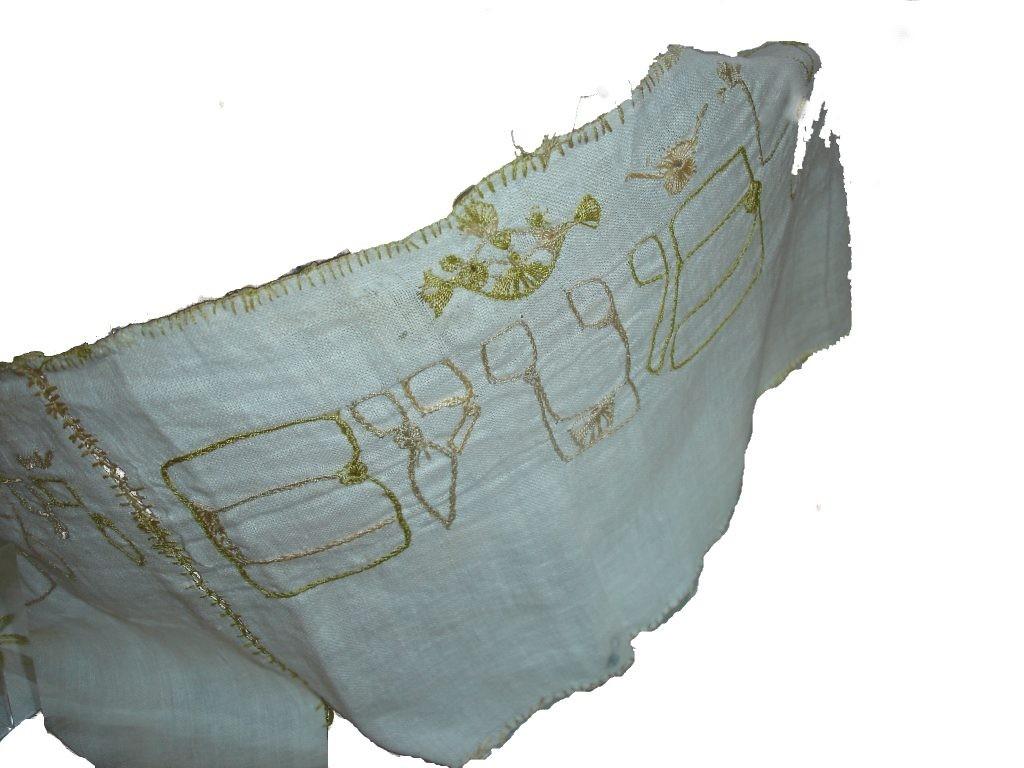 Wimpelfragment, das in der Synagoge entdeckt wurde