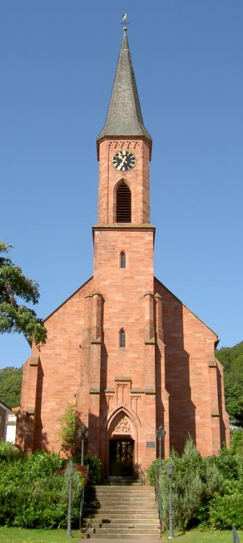 Die protestantische Stadtkirche in Landstuhl
