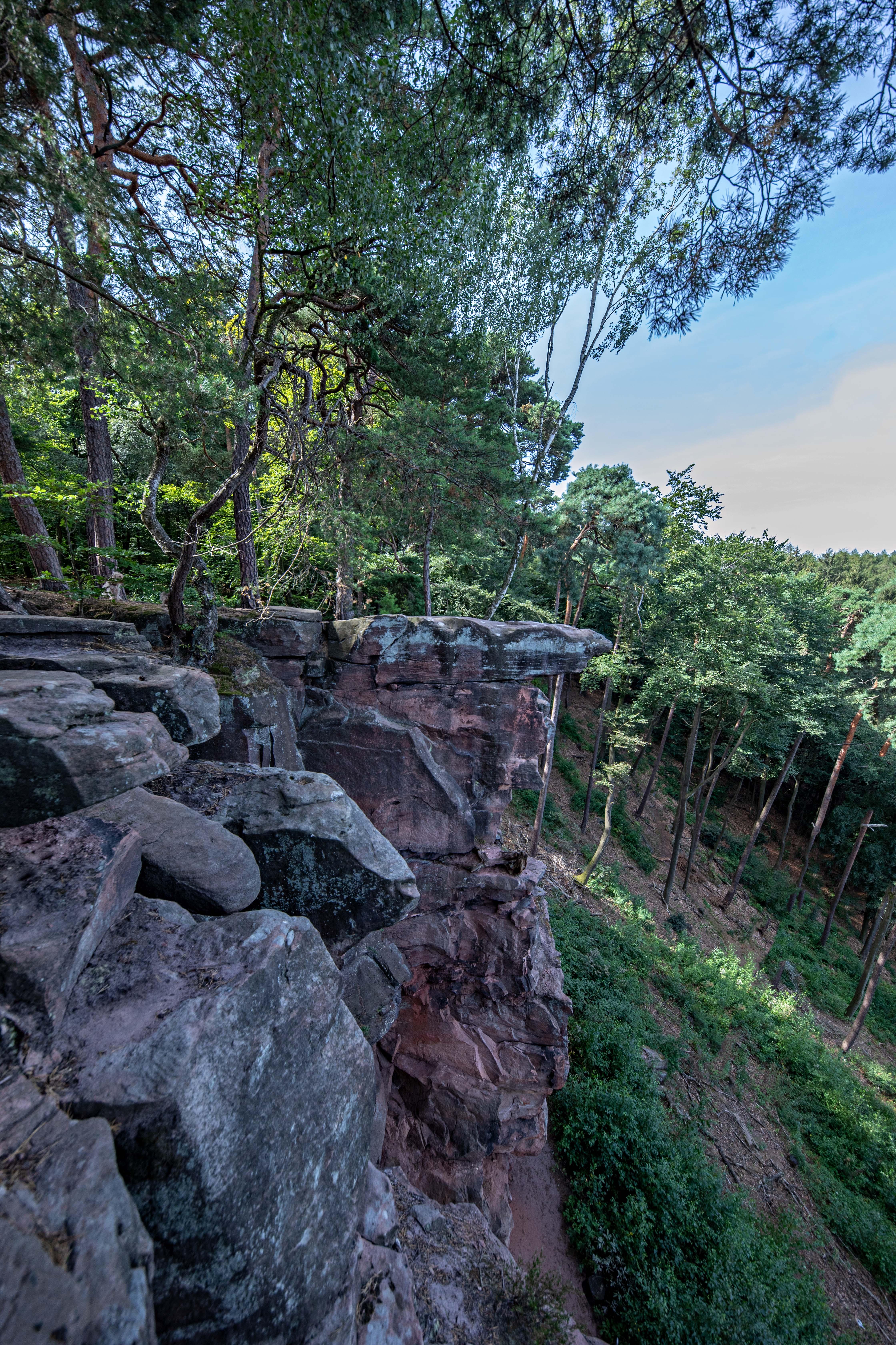 Felsformation oberhalb der Heidenfelsen