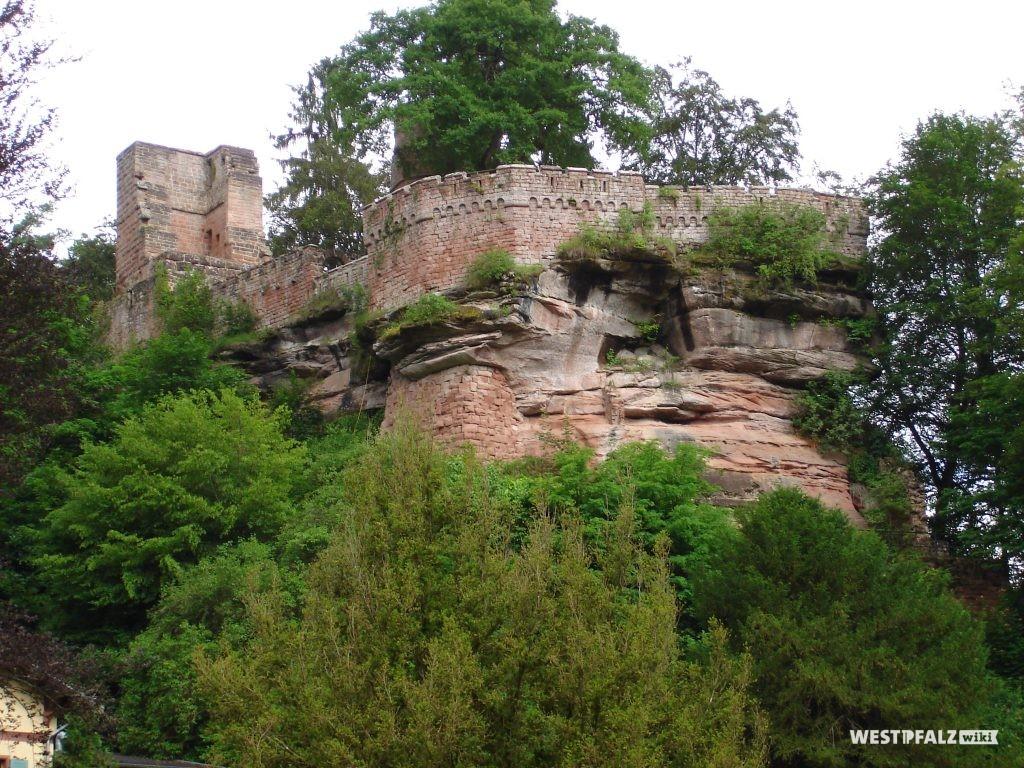 Südseite der Burgruine Diemerstein