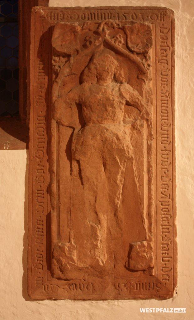 Grabstein des Ritters Hans von Droth 1503