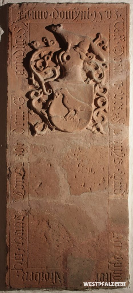 Gruftplatte des Ritters Hans von Droth 1503