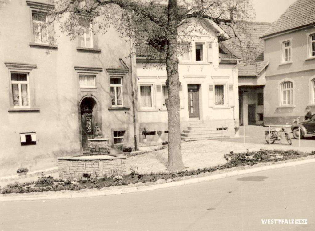 Poststation im Jahr 1950
