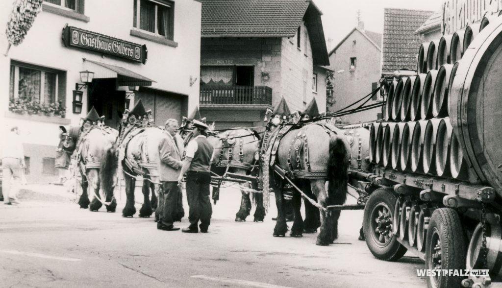 Pferdegespann zum Jubiläum 30 Jahre Gasthaus Gilbers in Hinzweiler