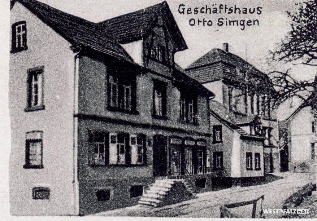 Gasthaus von Otto Simgen in Hinzweiler um 1920
