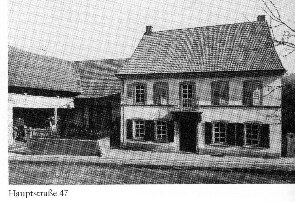 Der Dreiseithof in Hinzweiler um 1950