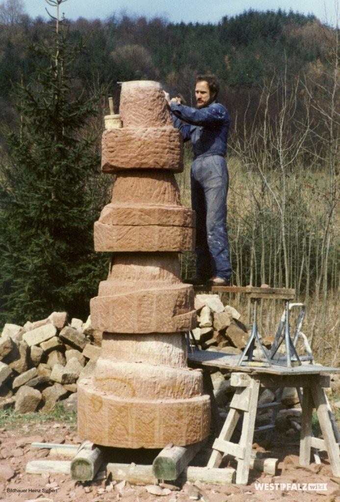 Gestaltung des Brunnens durch den Künstler Heinz Siebert