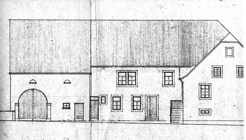 Skizze der alten Mühle