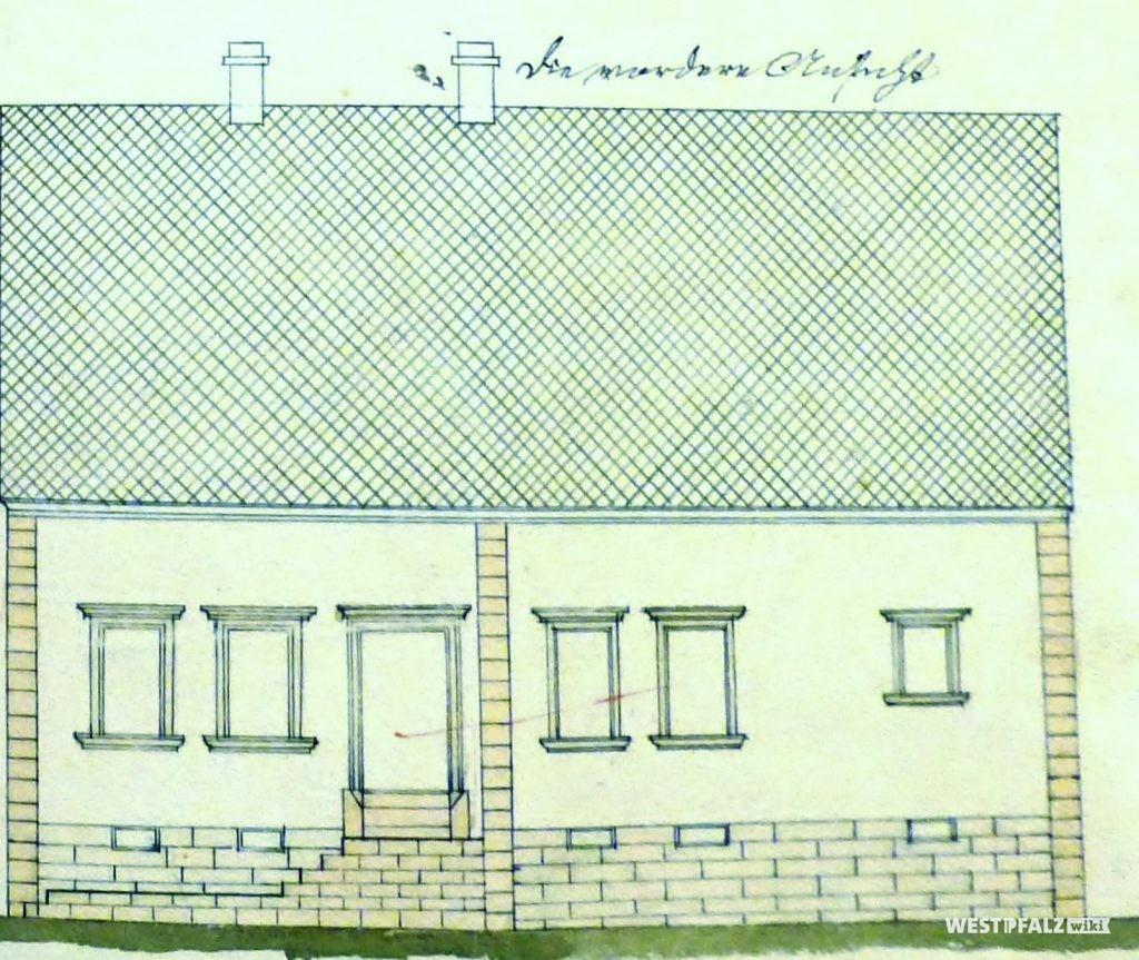 Bauplan des Wohnhauses in der Hauptstraße 65 in Hinzweiler