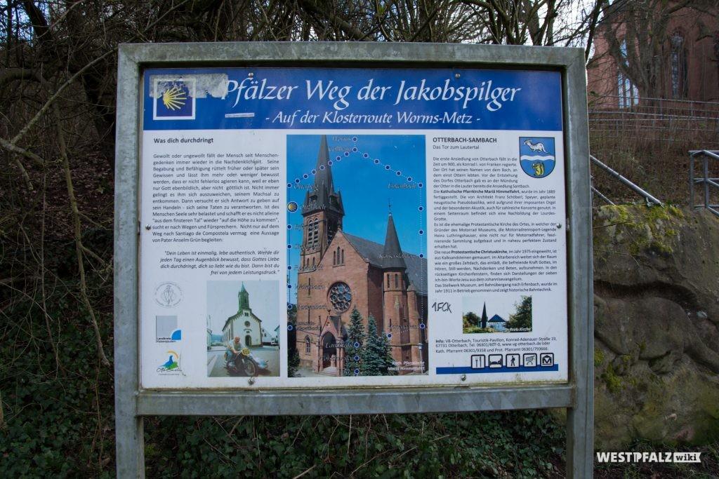 Informationstafel zum Jakobs Pilgerweg