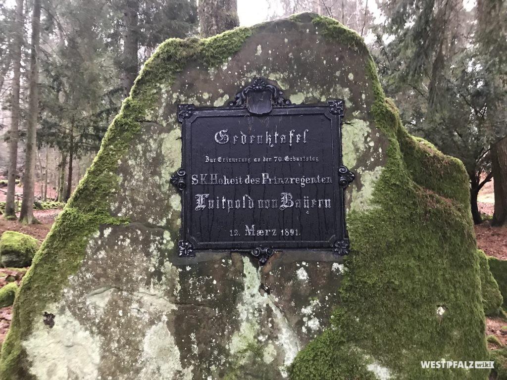 Gedenktafel an den Prinzregenten Luitpold von Bayern