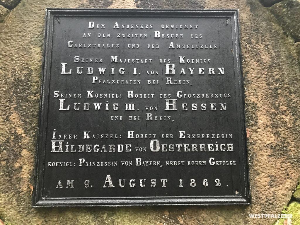 Gedenktafel zum Besuch des Königs Ludwig I. von Bayern