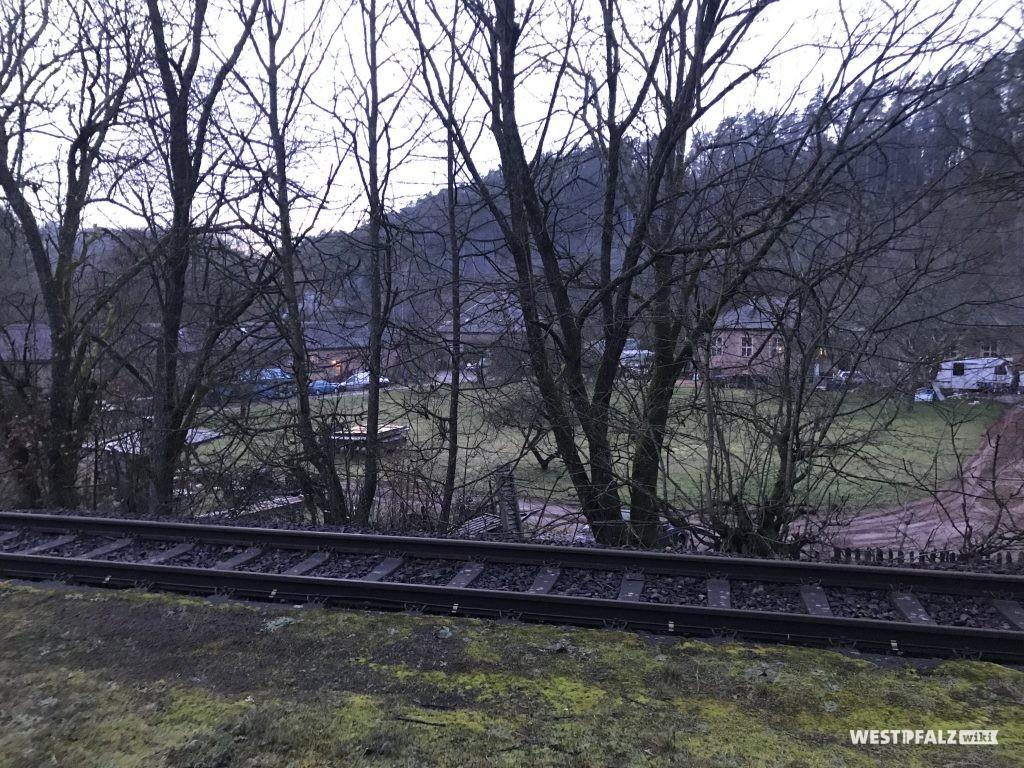 Sicht auf das Blechwalzwerk vom alten Bahnhof