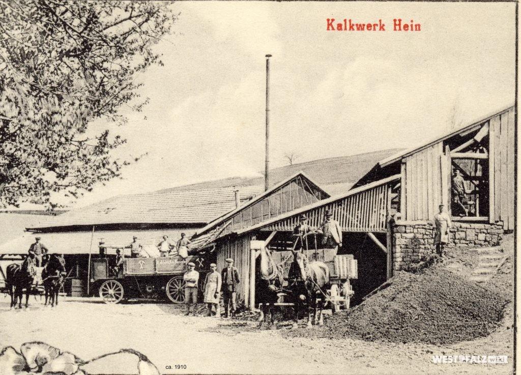 Arbeiter am ehemaligen Kalkwerk Hein