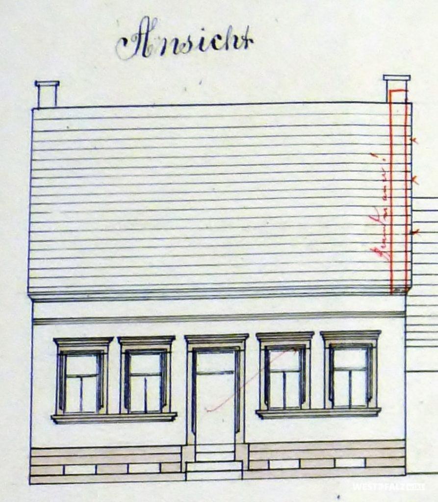 Bauplan des Hauses Mühlberg 13 in Hinzweiler