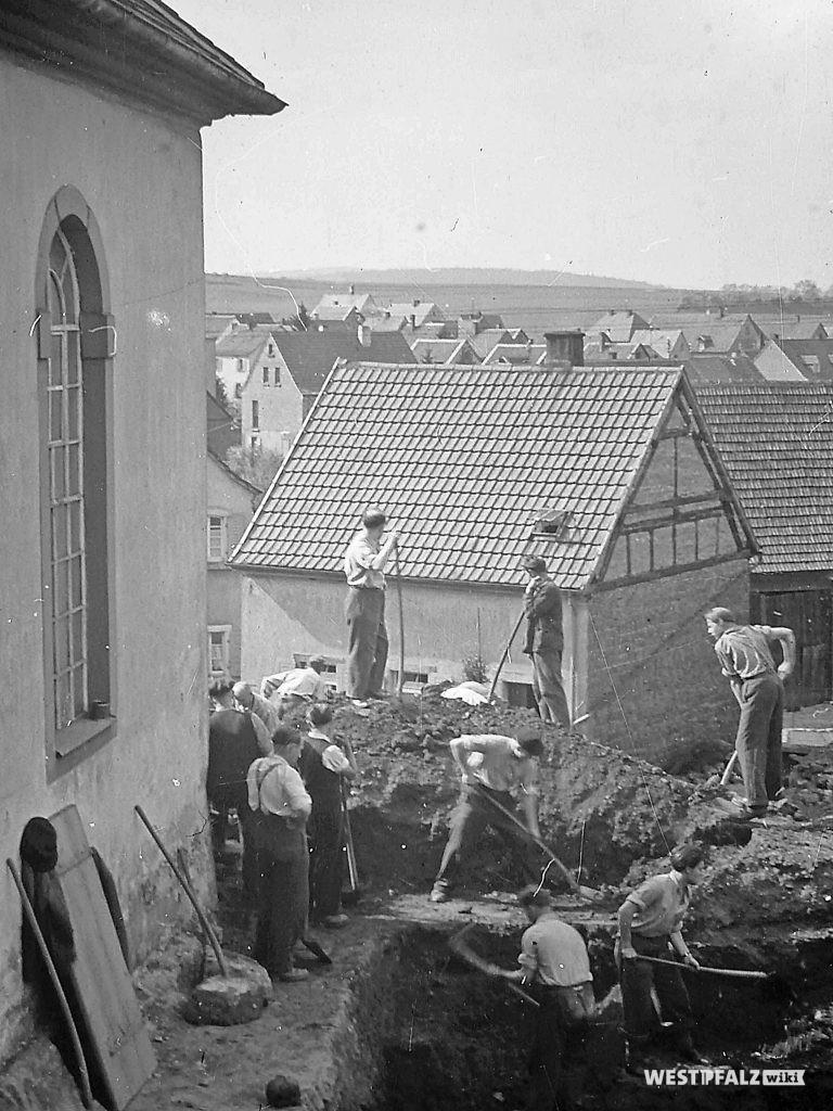 Protestantische Kirche - Ausschachtarbeiten