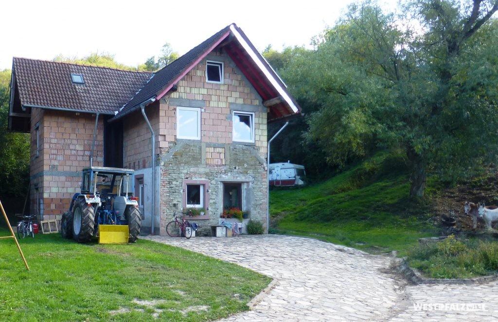 Wohnhaus auf dem Gelände des einstigen Kalkwerks