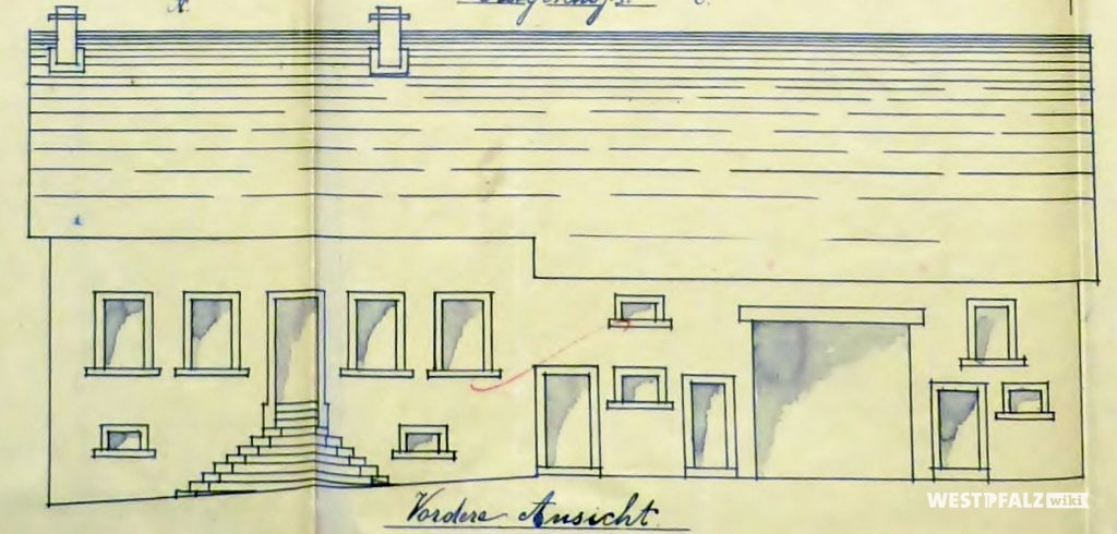 Bauplan des Bauernhauses Woonersch