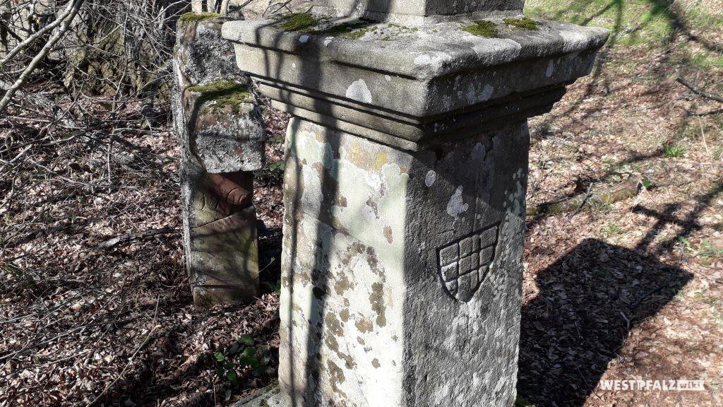 """Historische Wegkreuze am Ritterstein """"Johanniskreuz Grenz- und Geleitkreuz Altstrassen-Knotenpunkt"""""""