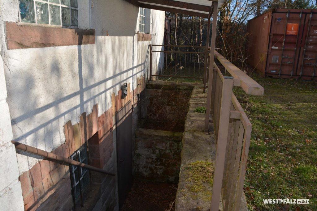 Treppenabgang der Heidenkopfhalle
