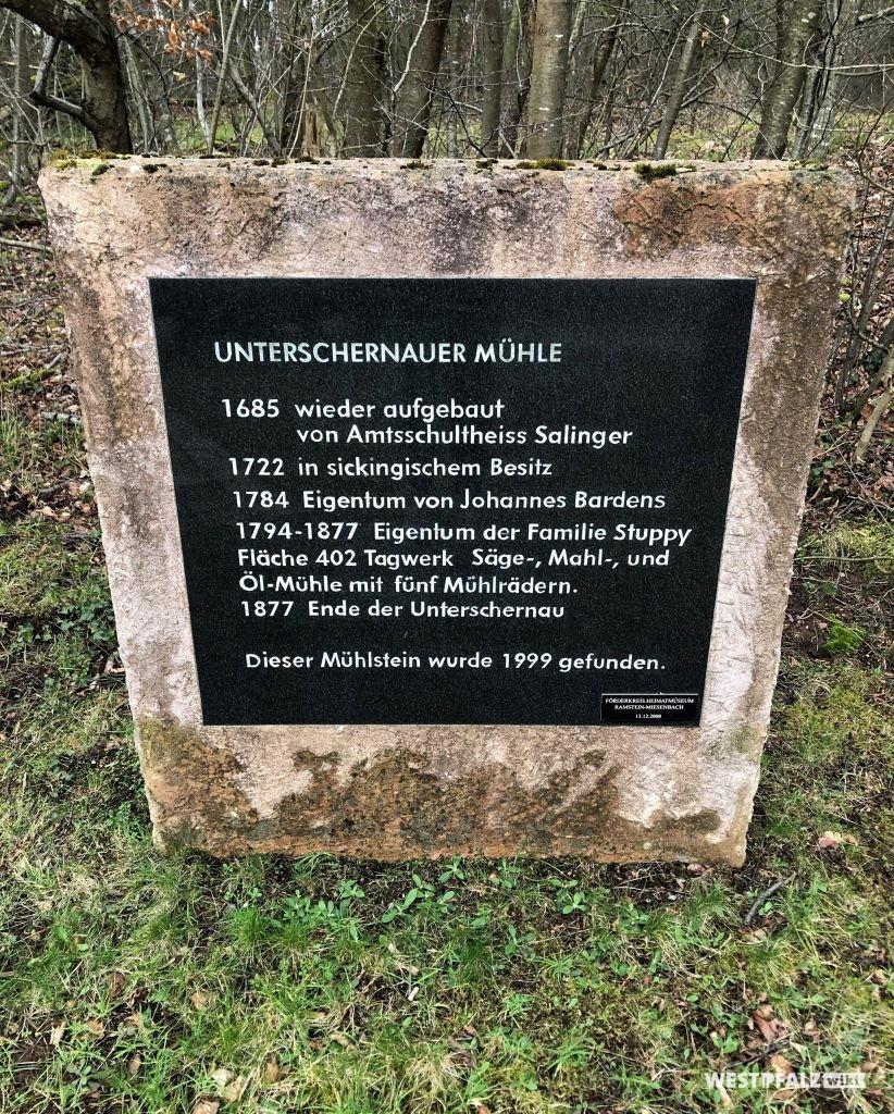 Informationstafel zur Unterschernauer Mühle