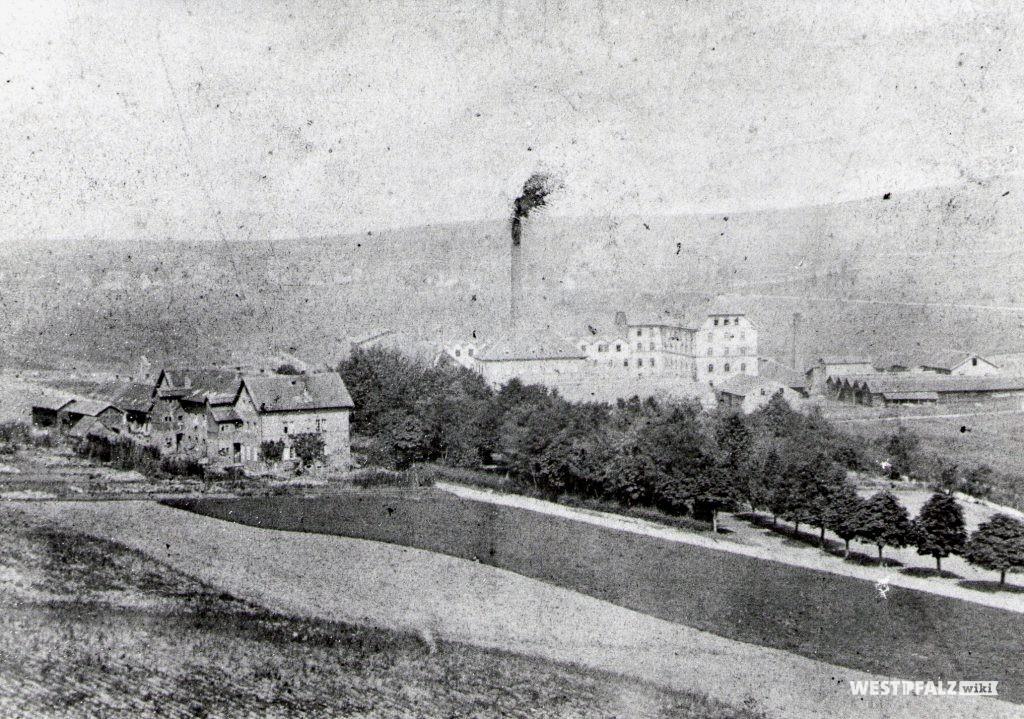 Spinnerei Lampertsmühle - älteste Aufnahme der Fabrik