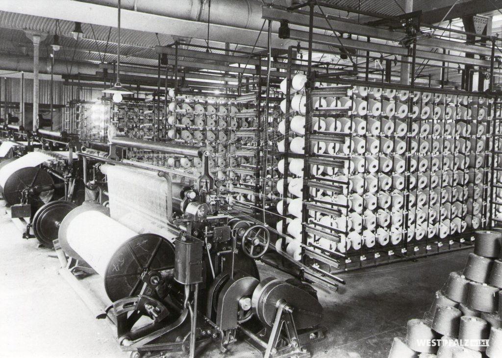Spinnerei Lampertsmühle - Zettelmaschine
