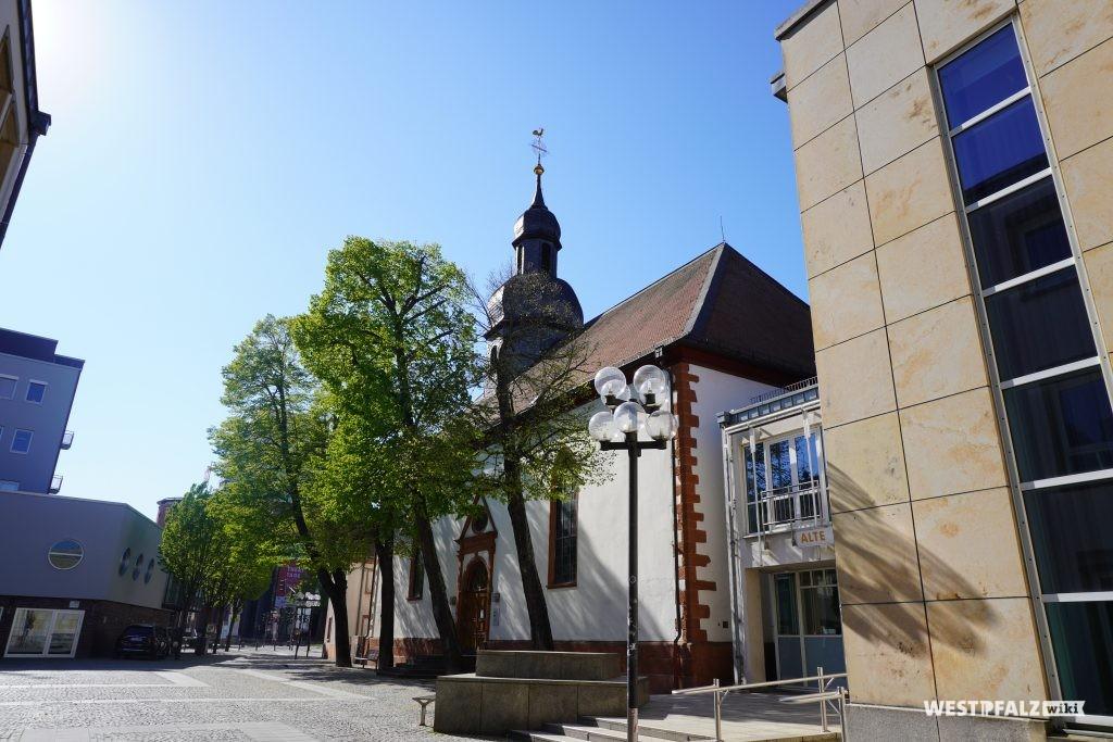 Rückansicht der Unionskirche in Kaiserslautern