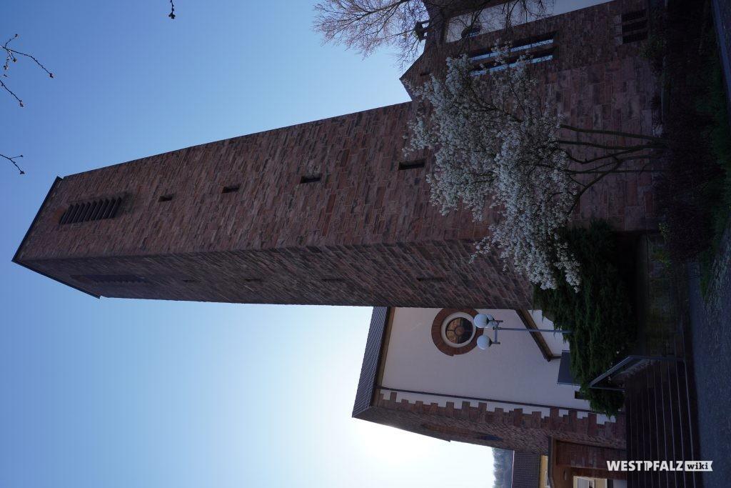 Kirchturm der Heilig-Geist-Kirche in Landstuhl