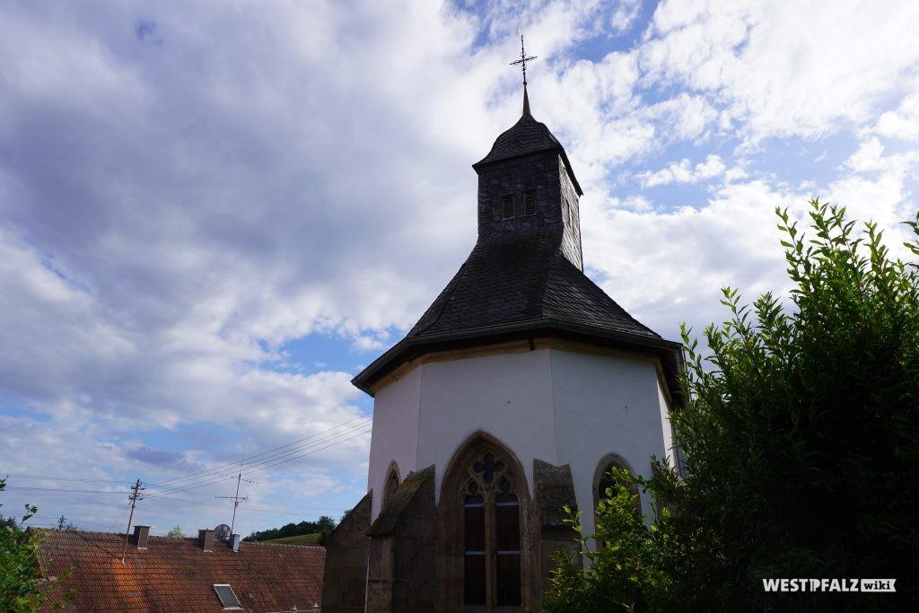 Barocker Dachreiter der protestantischen Kirche in Kollweiler